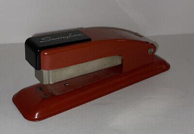 Vintage Small Mini 5-14 Red Swingline Desk Stapler Vgc Usa 002