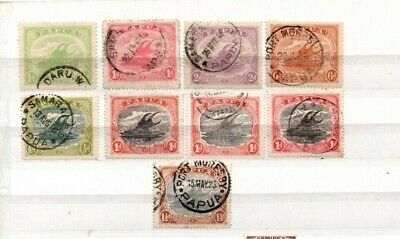 A very nice group of 9 Papua issues