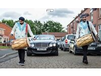 DHOL PLAYERS IN BRADFORD ASIAN WEDDING DJ BRASS BAND BAJA INDIAN DRUMMERS BOLLYWOOD BHANGRA DANCERS!