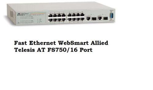 Fast Ethernet WebSmart Allied Telesis AT FS750/16 Port