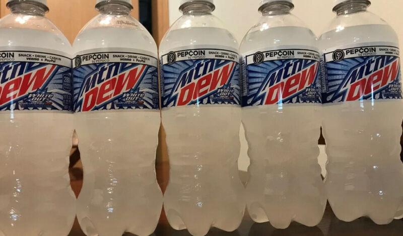 Mountain Dew White Out 5x Full 20 Oz Bottles Brand New MTN Dew Drink