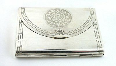 Antique Mirror Purse Powder Compact Vintage 70 Year Old  925 Sterling Silver