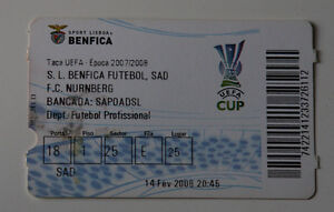 old TICKET UEFA Benfica Lisboa Portugal FC Nurnberg Germany - <span itemprop=availableAtOrFrom>Poznan, Polska</span> - old TICKET UEFA Benfica Lisboa Portugal FC Nurnberg Germany - Poznan, Polska