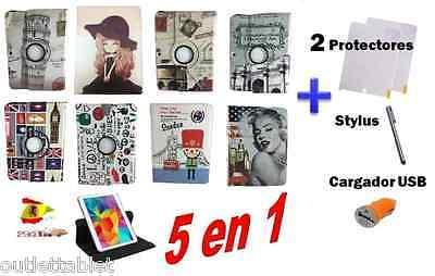 FUNDA PARA TABLET SAMSUNG GALAXY TAB 4 SM-T530 SM-T531 PIEL 10.1 Giratoria 360º, usado segunda mano  Najera