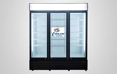 New 81 3 Glass Door Upright Refrigerator Gn3 Large Led Display Cooler Nsf Etl