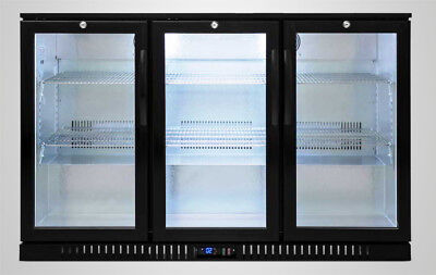 54 Wide 3-door Glass Back Bar Beverage Cooler - Beer Fridge Liquor Nsf