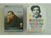 DVD'S PORRIDGE AND NORMAN WISDOM