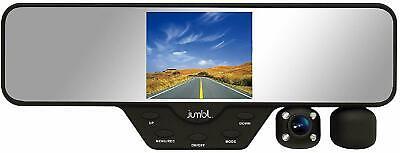 Jumbl Dash Cam Rear View Mirror & Dual Camera HD 1080p