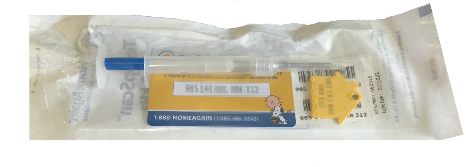 HomeAgain TempScan 134.2KHz Temperature Detecting Microchip ISO - $12.85
