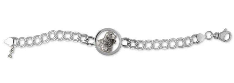 Springer Spaniel Bracelet Jewelry Sterling Silver Handmade Dog Bracelet SS5-BR