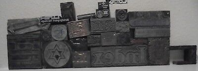 Lot Of 27 Vintage Cuts Printing Block Letterpress Blocks