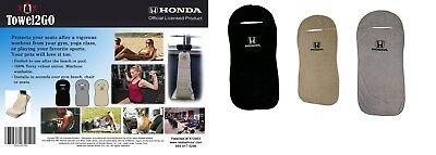 Honda Logo Seat Armour Universal Car Seat Cover - Pick Black Gray Tan Cotton NEW