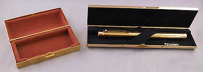 Sheaffer Targa Imperial Brass #1020 Fountain Pen--brass box and cartridge holder