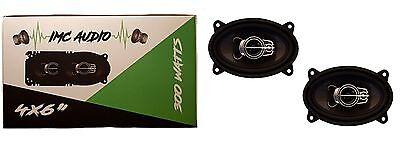"""Pair IMC AUDIO 4""""x6"""" 2-Way 300W Car Audio Speaker w 1 Year Warranty"""