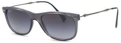 Ray-Ban Damen Herren Sonnenbrille RB4318 606/T3 55mm polarisiert anthrazit L7 H