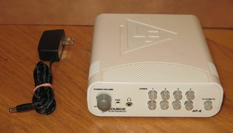 Louroe AP-8 8-Zone Audio Surveillance Monitoring Base Station