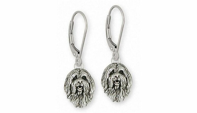 Tibetan Terrier Earrings Jewelry Sterling Silver Handmade Dog Earrings TTR3H-E