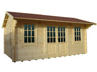 Log Cabins - Log Garden style buildings supplied by Millbank Sectional Buildings