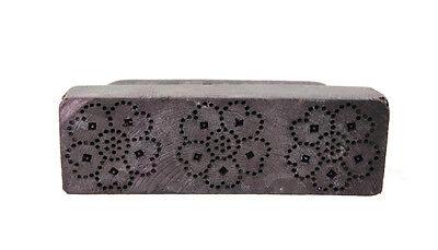 Antique Bunta Stamped Wood Printing Fabric Textile Batik Rajasthan India X59