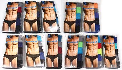 Papi Men's Low rise Bikini Briefs 5 pack Premium Cotton Size S,M,L,XL Cotton Low Rise Bikini