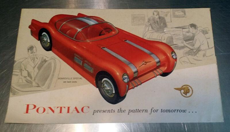 #39 VINTAGE 1954 Pontiac Bonneville CAR AUTOMOBILE SEDAN BROCHURE CATALOG