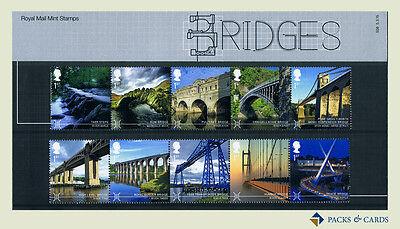 2015 BRIDGES STAMPS IN PRESENTATION PACK PP482 PRINTED NO. 508 - ROYAL MAIL