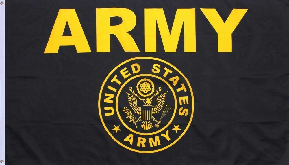 Army Gold and Black Flag United States Military Banner US Pe