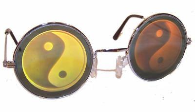 2 PAIR HOLOGRAPHIC YIN YANG GLASSES hologram 3-D unisex HIPPIE new MENS WOMENS](Holographic Sunglasses)