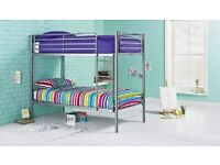 🔰🔰Stylish & Elegant🔰🔰BRAND NEW SINGLE WHITE METAL BUNK BED WITH MATTRESS OPTION AVAILABLE
