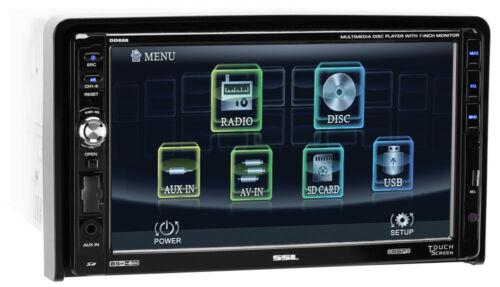 "SOUNDSTORM SSL DD888 7"" 2-Din In-Dash DVD/CD Player Receiver USB/SD/MP3+Remote"