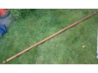 Thick, long heavy wood ring curtain rail