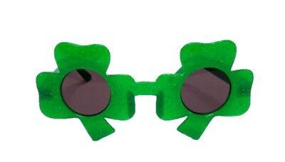 St. Patrick's Green Shamrock Costume Sunglasses Adult Standard Size Lucky Irish