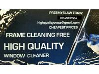Window cleaning services and others.