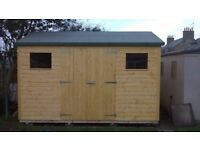 10ft x 6ft Wooden Garden Apex Shed