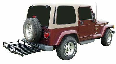 Auto Truck Suv Hitch And Ride Black Cargo Rack