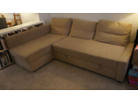 Fantastic large sofa bed with chaise longue and storage space