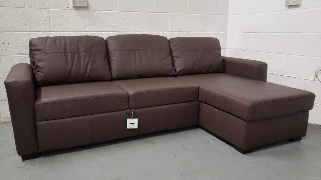 John Lewis Sacha Large Leather Sofa Bed