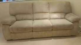 Three seater recliner sofa for sale