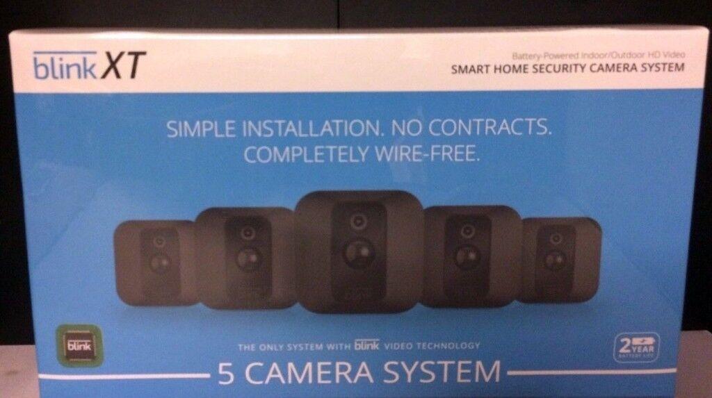 Blink XT Home Security 5 Camera Kit Motion Detection Night Vision Battery  SEALED   in Easter Road, Edinburgh   Gumtree