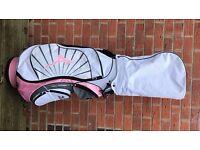 Ladies Mizuno Aerolite Cart/Trolley Golf Bag pink and white