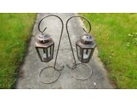 Pair of Outdoor T-Lite Lanterns