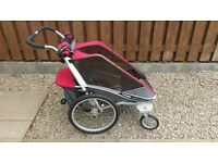 Chariot Cougar1, Excellent condition, jogging and bike kits included