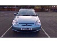 2001 HONDA CIVIC SE i-VTEC 16V 5 Door Hatchback Manual Petrol 1.6L PRICE REDUCED FOR BARGAIN £550