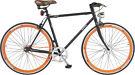 Gloria Aluminum Fixie Bicycle matte black/orange