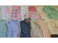 Baby girls clothes bundle 12-18 summer