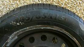 Nissan wheel with tyre
