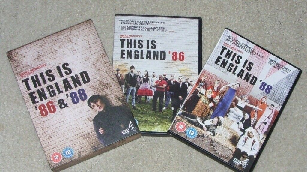 *VGC* This Is England '86 And '88 (DVD, 2012, Box Set) Shane Meadows