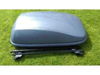 Halfords 420 litre roof box and bars