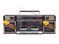 Maxim MX-939 Vintage Retro Ghetto Blaster Boom Box Twin Cassette Player...........Bran New