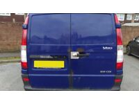 Rear Barn Doors-Mercedes Vito W639-Blue